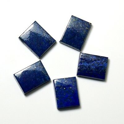 57.3 Ct 5 Pcs Lapis Lazuli Stone Square Blue natural Loose Gemstone Lot 5JA