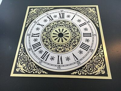 """Clock Dial Roman Numerals Metal 6"""" Square with 4 1/2"""" Time Ring"""