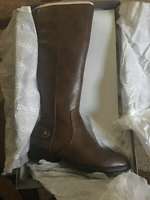 074daf35364 Life Stride Xandy Riding Boots Wide Calf Brown Size 6.5 Women s