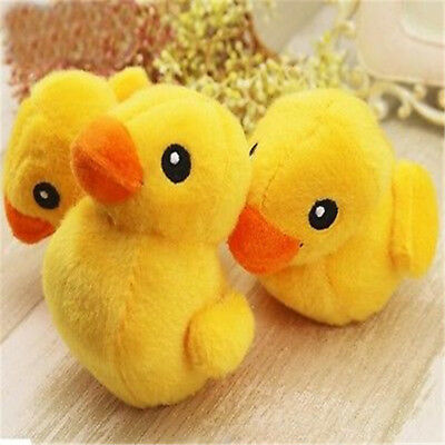Cute Soft Plush Pet Yellow Duck Squeaky Sound Training Chew Toy For Dog Cat