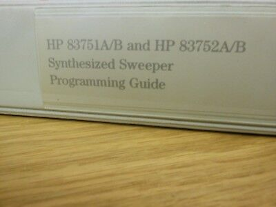 HP Agilent 83751A/B and 83752A/B Synthesized Sweeper Programming Guide Loc: 961