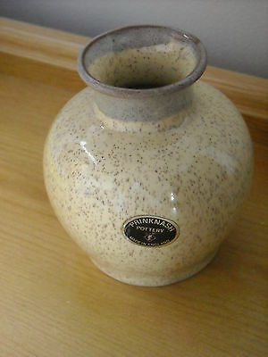Prinknash Vase - Cream ,beige & Grey - With Original Label