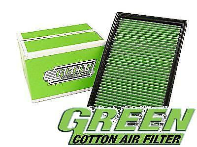 Green Cotton Panel Car Air Filter Replacement  Performance P960130