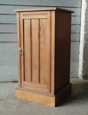 Antique Edwardian Solid Mahogany Pot Cupboard Bedside Cabinet