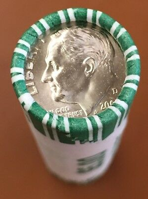 2009-D Bank Wrapped Roosevelt Dimes $5 Face 50 Coins Uncirculated BU MS - TCC
