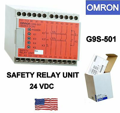 Omron Safety Relay G9S-501 DC 24V supply new original package and manual
