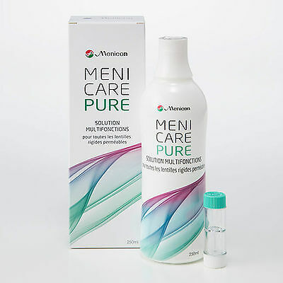 Menicare Pure multipurpose solution for all Gas Permeable RGP Contact Lenses