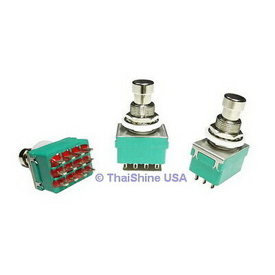 1 x 4PDT Stomp Foot / Pedal Switch Latching - USA Seller - Free Shipping