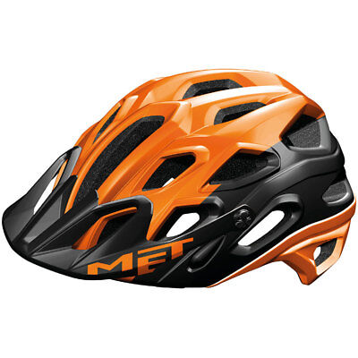 MET MTB All Mountain-Helm Lupo Double In-Mold Orange Black Gr. M 54-58cm Mod.18