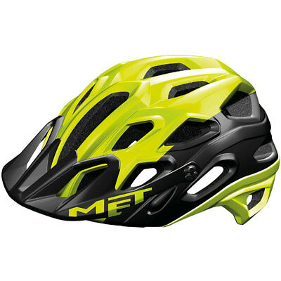 MET MTB All Mountain-Helm Lupo Double In-Mold Safety Yellow Black Gr. L 59-62cm