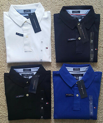 Tommy Hilfiger Short Sleeve Polo For Men M L XL XXL Brand New With Tags