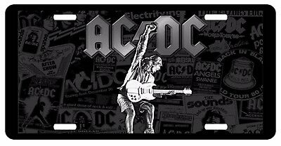 AC DC Music Metal Rock Radio Vanity Novelty Guitar Bass Truck Car License Plate
