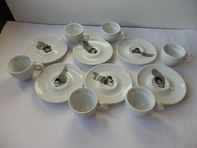 ILLY COLLECTION CENTRAL SAINT MARTINS 2000 Neil & Ross 6 tazzine caffè cups MINT