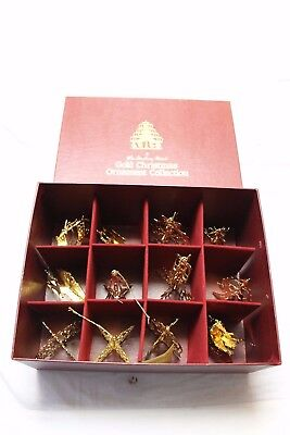 Danbury Mint 20Kt Gold Electroplated Christmas Ornament Collection 1984 Complete
