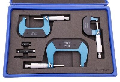 3 Piece 0-75Mm /.001Mm Metric Outside Micrometer Set (4200-1075)