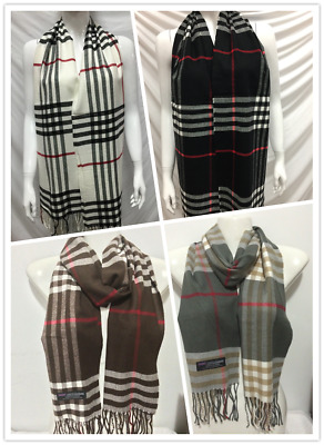 Wholesale 4Pcs 100% Cashmere Scarf Made In Scotland Big Plaid Design Style A