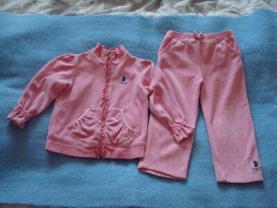 Juicy Couture Girls Pink Tracksuit Aged 18-24 Months