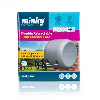 Minky Retractable Clothes Line 2 x 15m