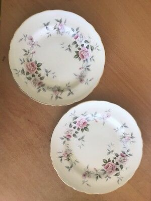 Royal Tuscan Replacement Side Plates Wedgewood Pink Floral