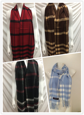 Wholesale 4Pcs 100% Cashmere Scarf Made In Scotland Plaid Design Style H