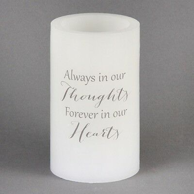 E78048 Memorial Candle Led Wax Always In Thoughts (8968)
