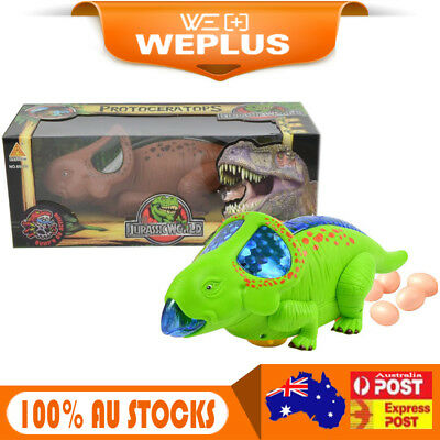 Electric protoceratops Walking Dinosaur Laying Eggs&Sounds Kids Toy Xmas Gifts