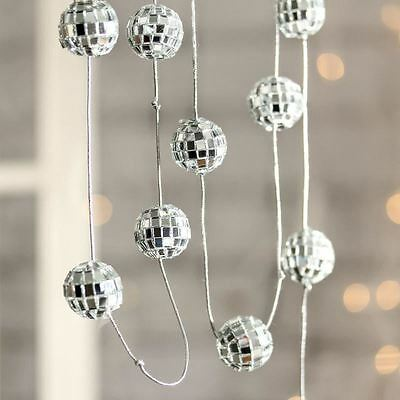 5 Foot Garland Of 12 Mirror Disco 7 8 Mini Size