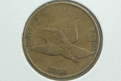1858 Flying Eagle Cent XF Large Letters