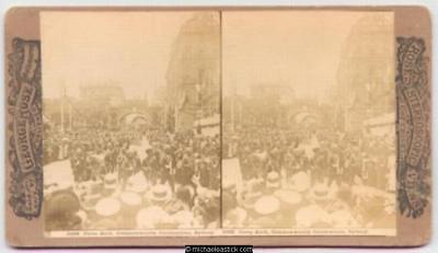 1901 Rose Stereo Card #2628 of Ceres Arch, Commonwealth Celebrations, Sydney
