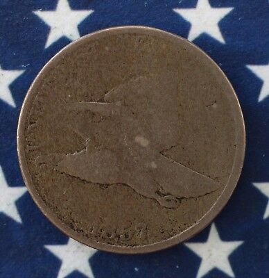 Kappyscoins 1857 Flying Eagle Cent Good G