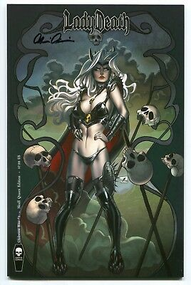 Lady Death Oblivion Kiss #1 Skull Queen Variant Nei Ruffino Cover Signed Pulido