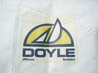 "Used Sailboat Sail Doyle Sail Mainsail Luff 45' 11"" Triple stitched"