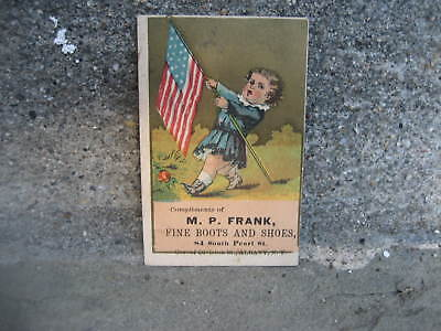 Victorian M.P. Frank Fine Boots and Shoes Trade Card