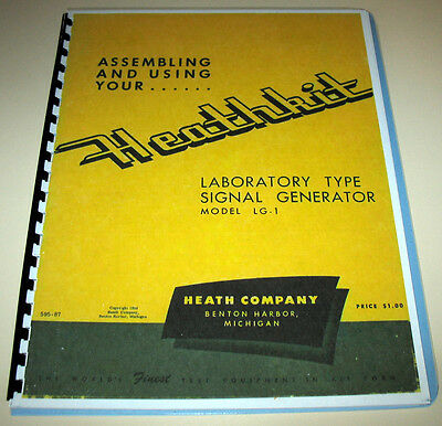 HEATHKIT LG-1 RF Signal Generator Manual New Copy