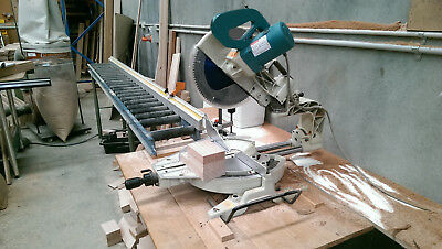 MARKITA L1214 305mm SLIDING DROP SAW.AND ROLLER STOP TABLE..