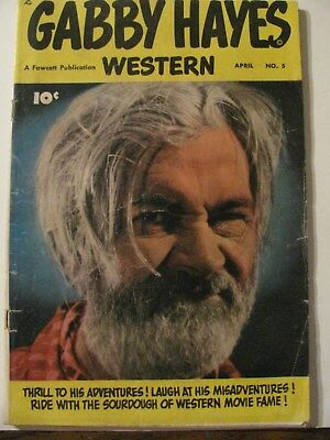 GABBY HAYES Cowboy Western Comic Book LOT VINTAGE Golden Age. Photo Cover Fawcet