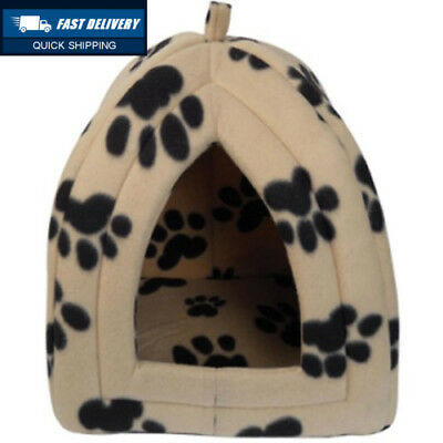 New Dog Cat Warm Fleece Winter Bed Igloo House Soft Luxury Basket For Pets...