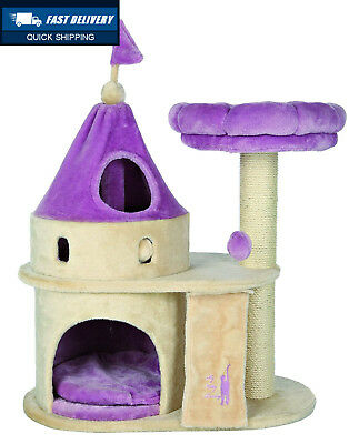 Trixie My Kitty Darling Scratching Castle, 90 cm, Beige/Lilac