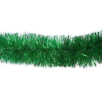 Christmas garland tinsel tree party decoration xmas ornament green 2m - #e#