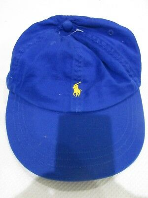 5bc069ab0b476 NEW Ralph Lauren Royal Blue Logo Baseball Cap Hat Size 8-20