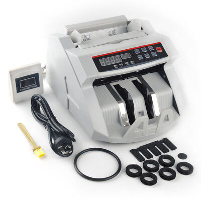 LCD Automatic Bill Counter Machine Multi Currency Cash Money Counting Machine