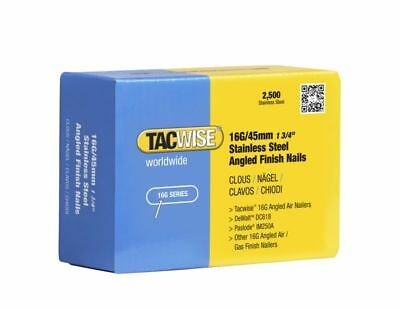 TACWISE 1224 45mm S/S 16g Angled Brads Dewalt DCN660 Paslode IM65