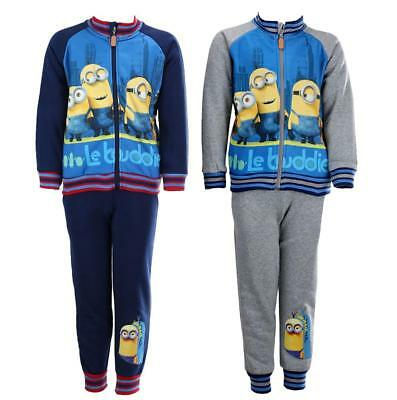 Boys Official Despicable Me Minions Buddies Zip Tracksuit Jogsuit 4 to 12 Years