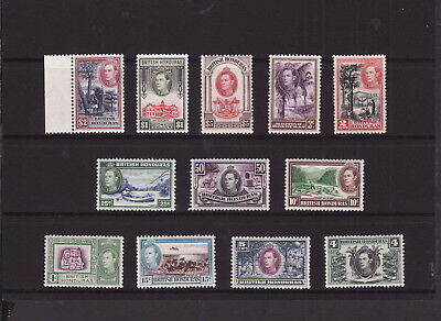 BRITISH HONDURAS 1938 KGVI COMPLETE STAMPS SET to $5 - MINT Light Hinged (L005)