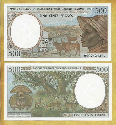 Cameroon Cameroun 500 Francs 1999 Unc Currency Banknote P-201Ef ***USA SELLER***