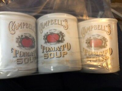 Lot Of 2 Campbells Tomato Soup 125th Anniversary Mugs Beefsteak Tomato Soup