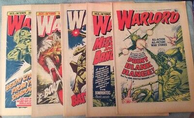 5 X Vintage 'Warlord' Comics Issues #115, 116, 117, 118, 119 (Dec-Jan 1976-77)