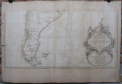 3 Antique Prints-MAP-SOUTH AMERICA-THREE SHEETS-D'Anville-Delahaye-1748