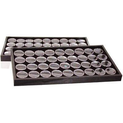 Black 72 Gem Jars Foam Insert & Travel Display Tray