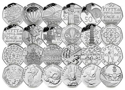 Various Rare Commemorative 50p Coins - Olympics Jemima Puddle Duck Royal Mint